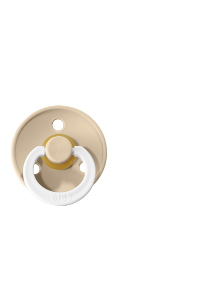 BIBS fopspeen 0-6M glow in the dark vanilla