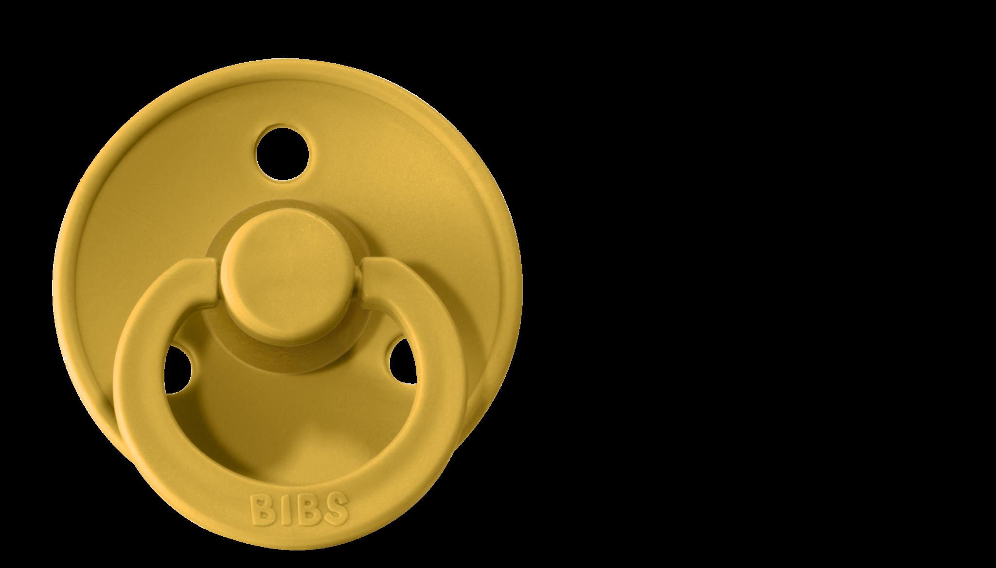 BIBS fopspeen 0-6M mustard-1