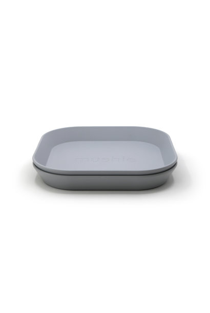 Plates square 2 pack cloud