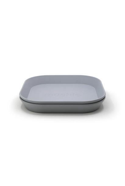 Plates square 2 pack cloud