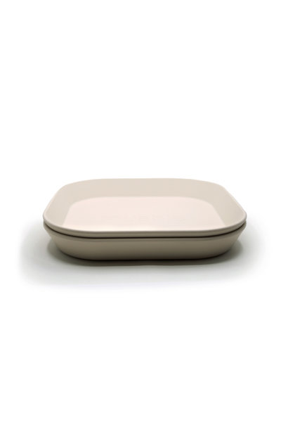 Plates square 2 pack ivory
