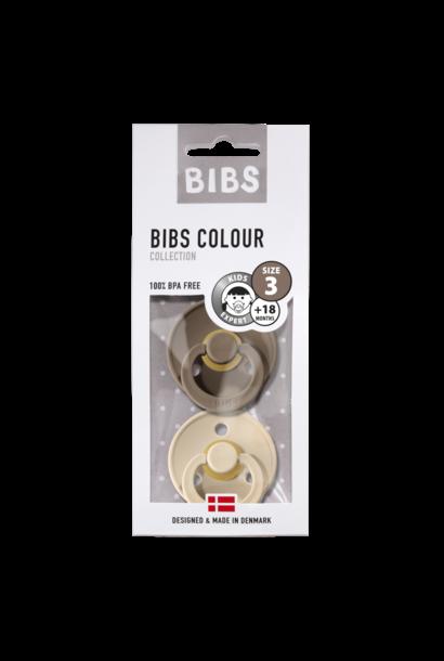 BIBS fopspeen +18M blister dark oak/vanilla