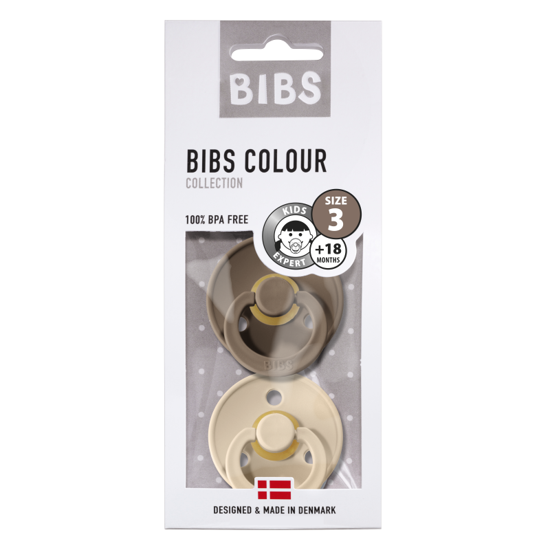 BIBS fopspeen +18M blister dark oak/vanilla-1