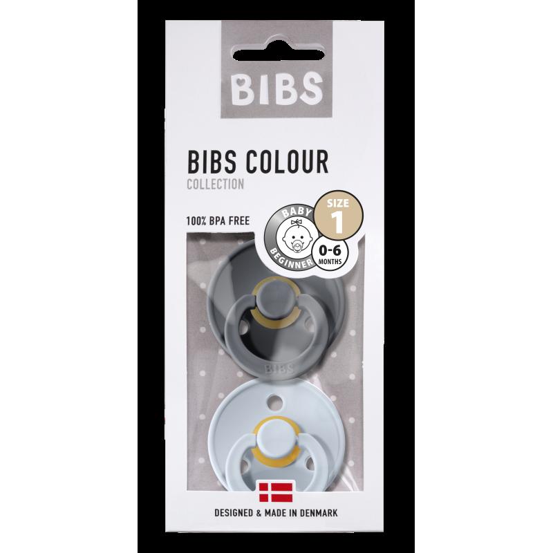 BIBS fopspeen 0-6M blister iron/baby blue-1