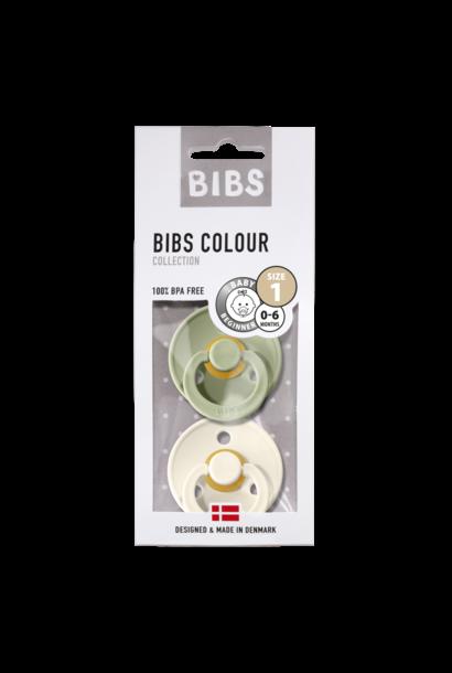 BIBS fopspeen 0-6M blister sage/ivory