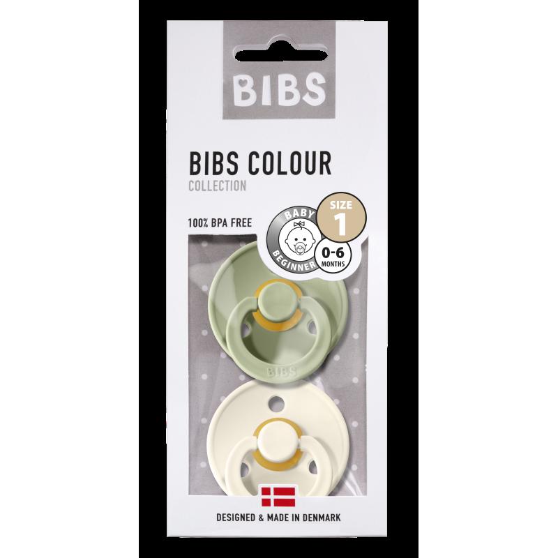BIBS fopspeen 0-6M blister sage/ivory-1