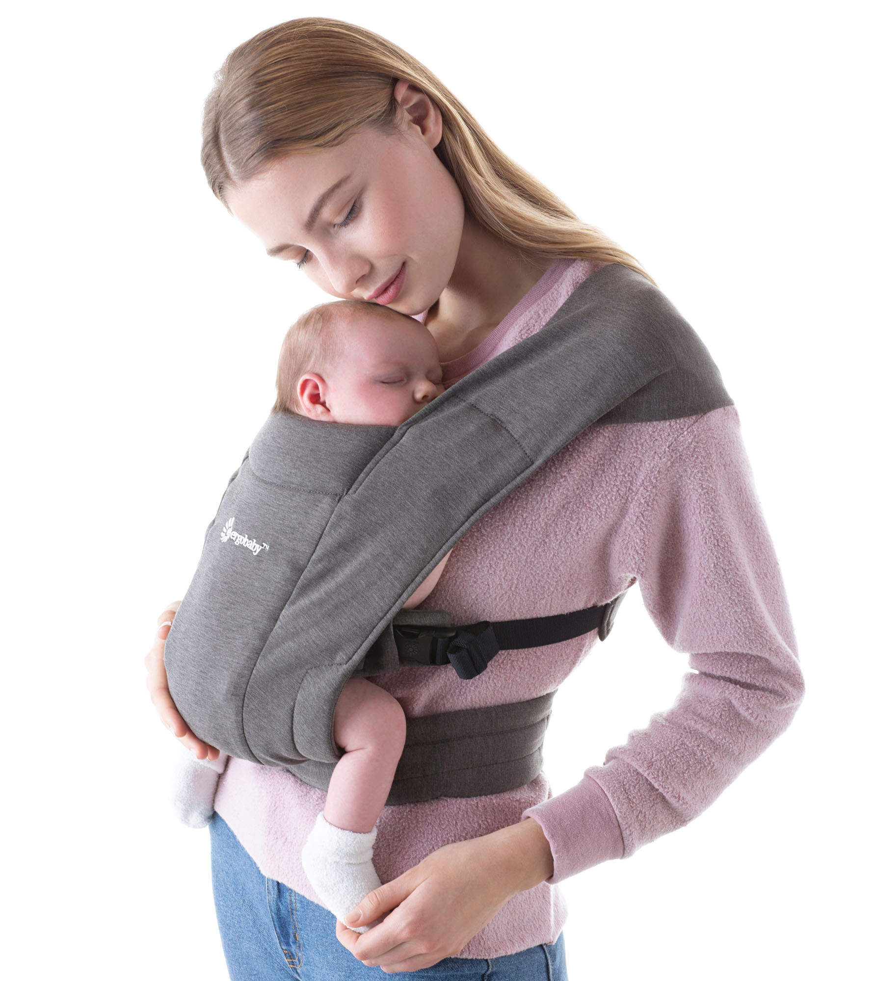 Babydraagzak Embrace heather grey-1