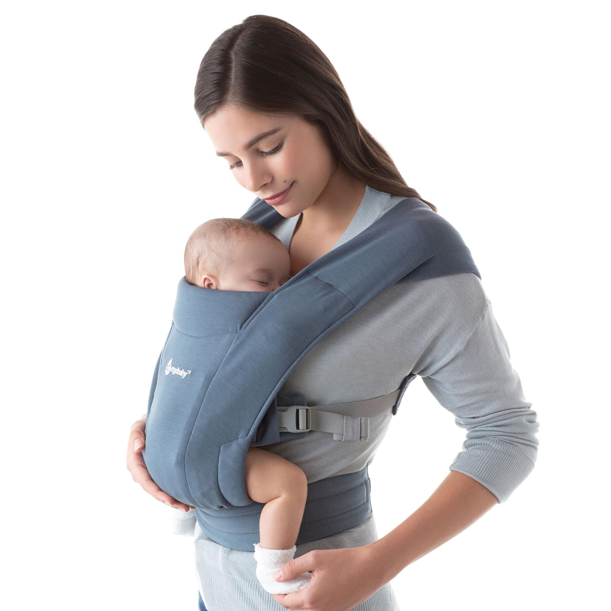 Babydraagzak Embrace oxford blue-1