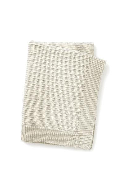 Gebreid deken vanilla white