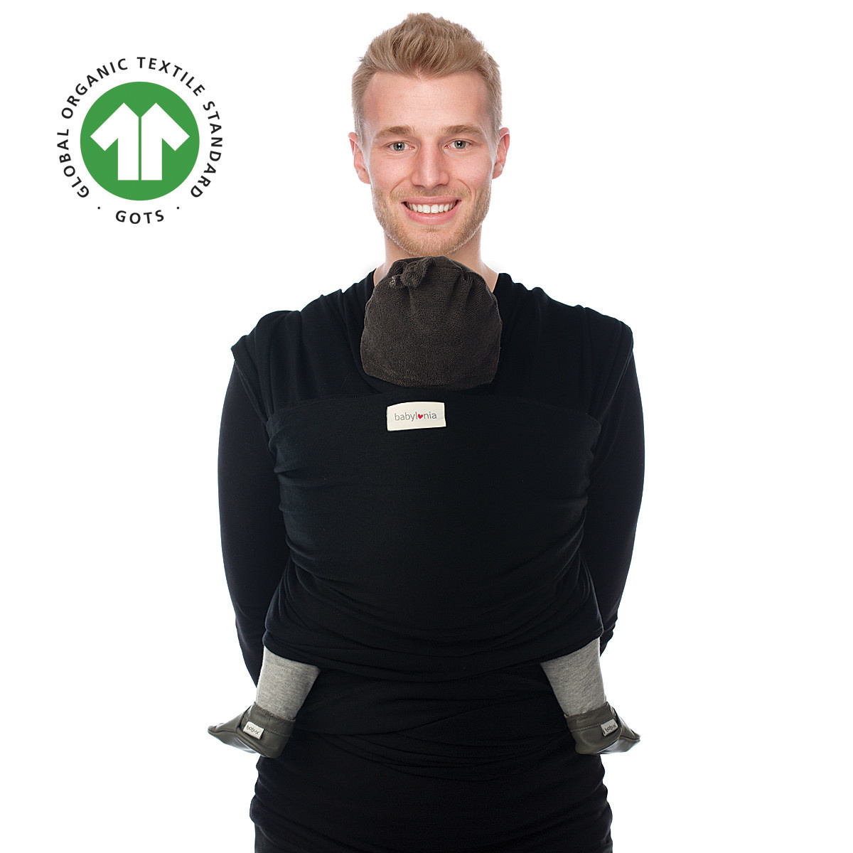 Draagdoek tricot-slen organic black-1