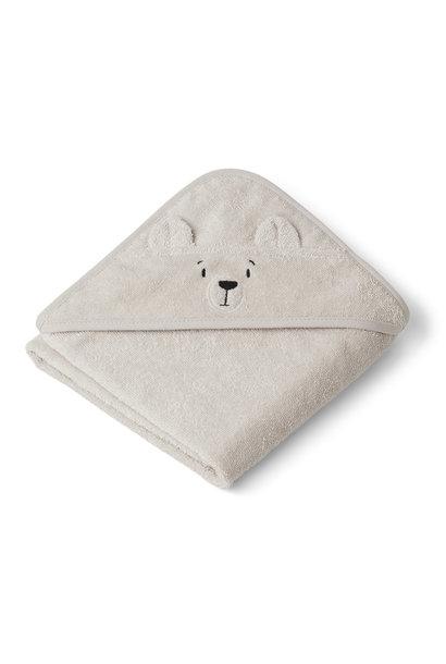Albert hooded towel polar bear sandy