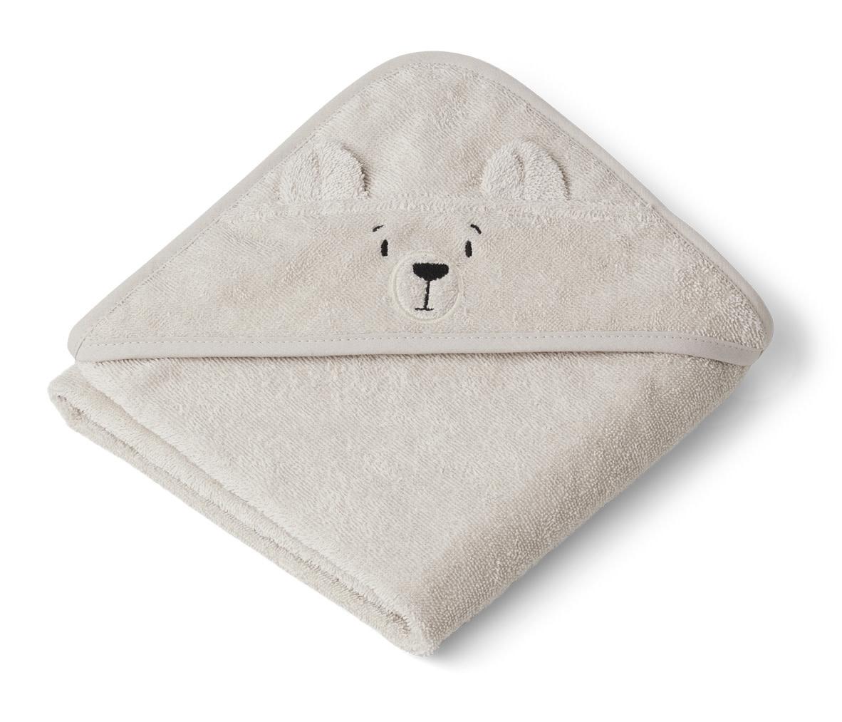 Albert hooded towel polar bear sandy-1