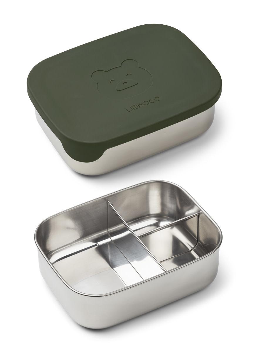 Arthur lunch box bear hunter green-1