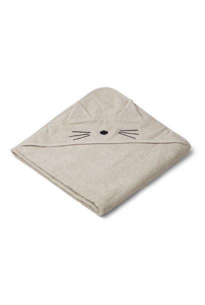 Augusta hooded towel cat sandy