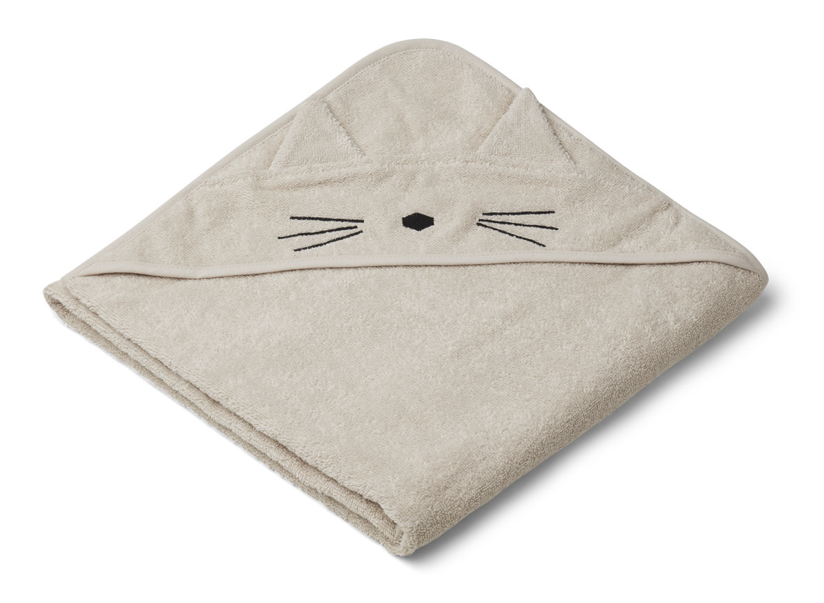 Augusta hooded towel cat sandy-1