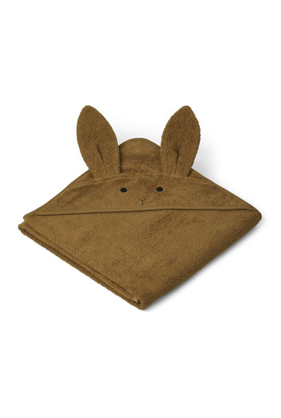 Augusta hooded towel rabbit olive green
