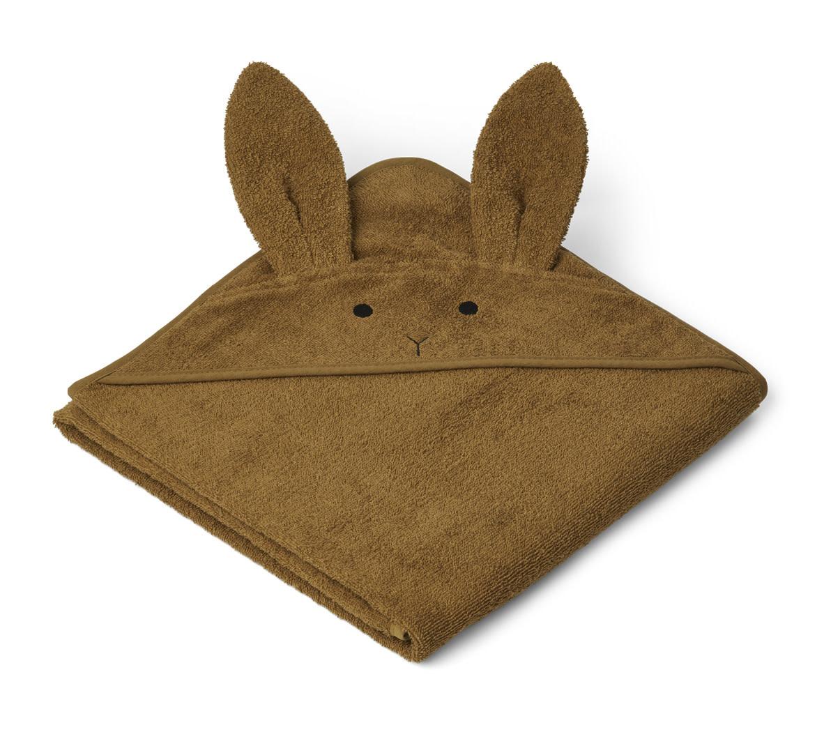 Augusta hooded towel rabbit olive green-1