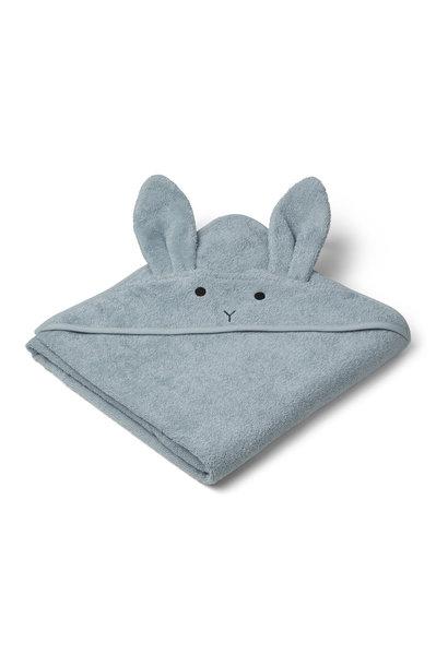 Augusta hooded towel rabbit sea blue
