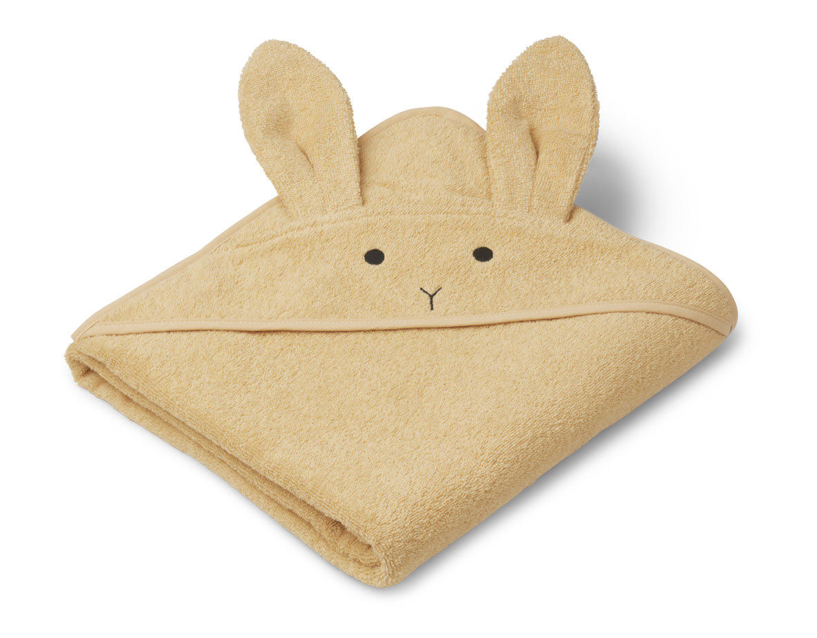Augusta hooded towel rabbit smoothie yellow-1