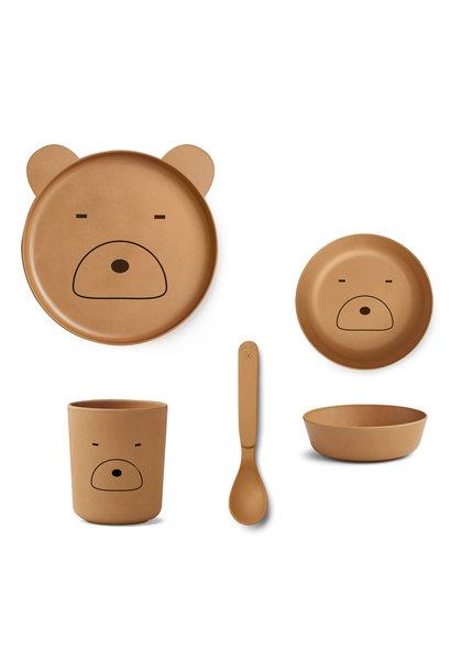 Bamboo box set mr bear mustard