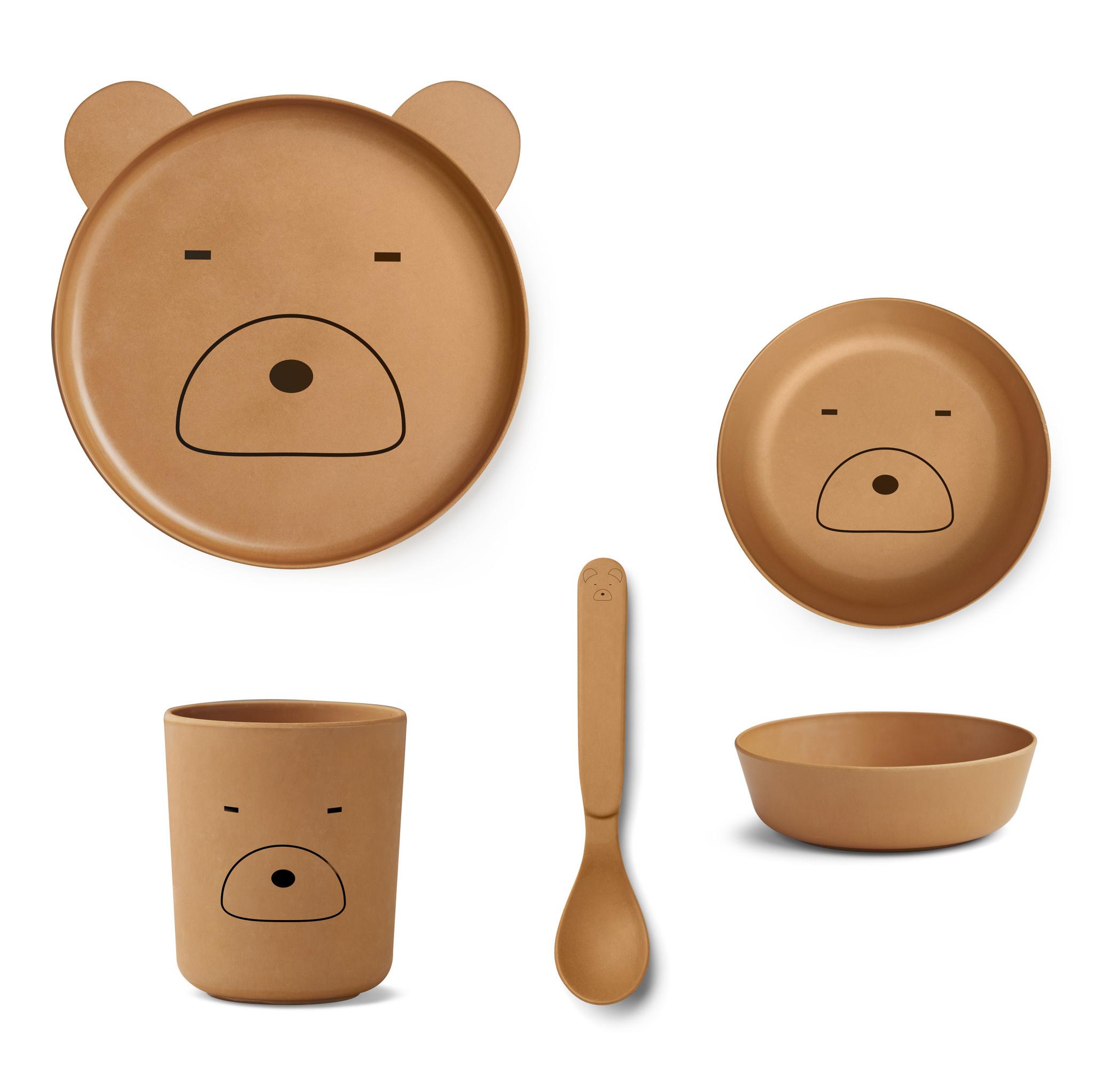 Bamboo box set mr bear mustard-1