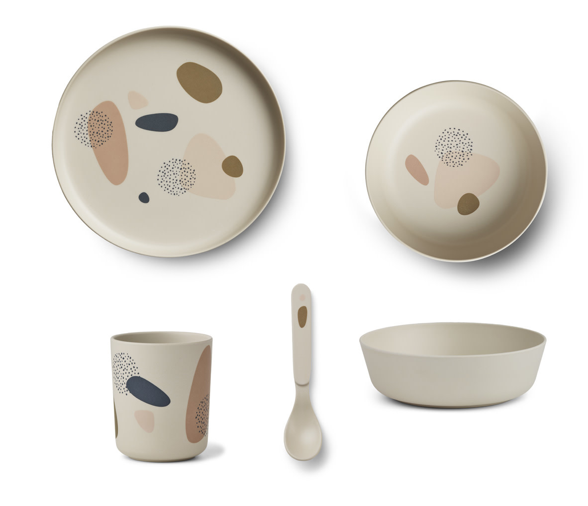 Bamboo tableware bubbly sandy-1