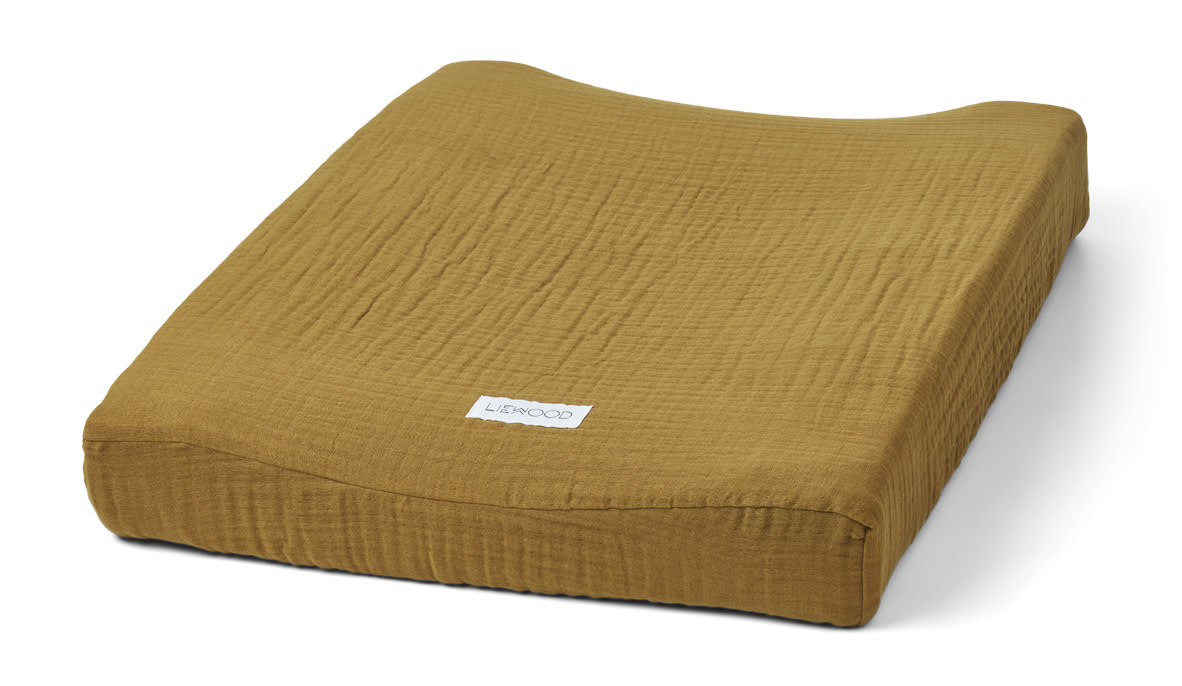 Cliff muslin changing mat cover olive green-1