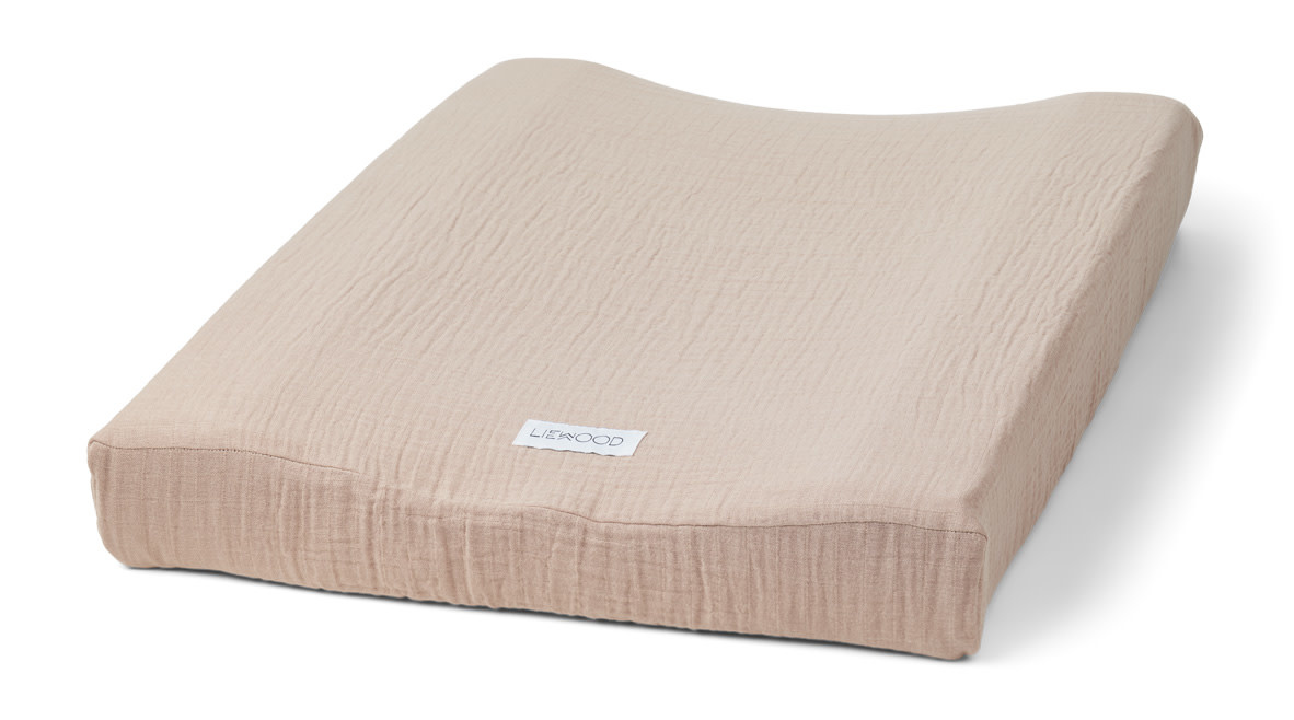 Cliff muslin changing mat cover rose-1