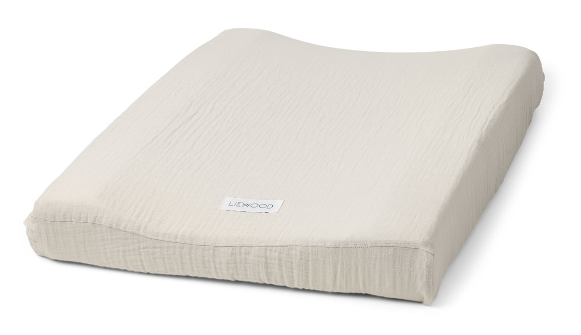 Cliff muslin changing mat cover sandy-1
