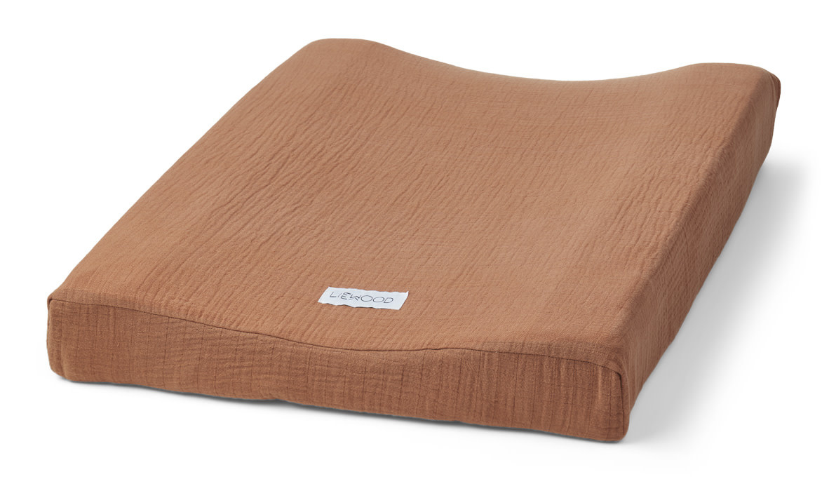 Cliff muslin changing mat cover terracotta-1
