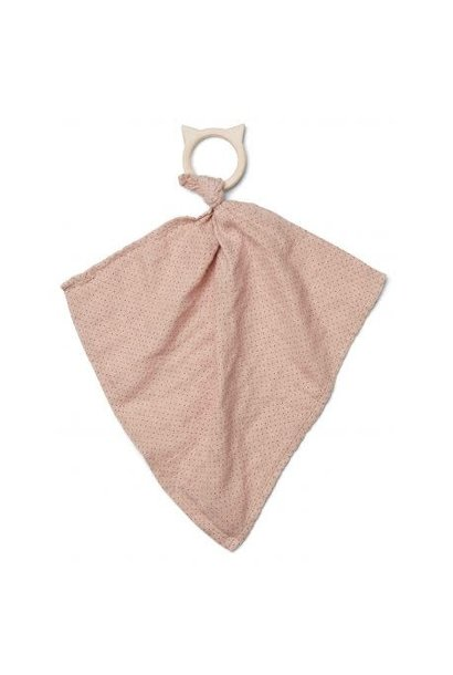 Dines teether cuddle cloth little dot rose