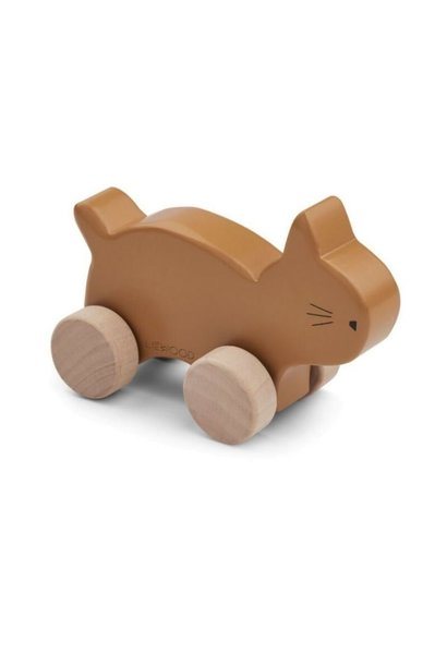 Elena wood toy cat mustard