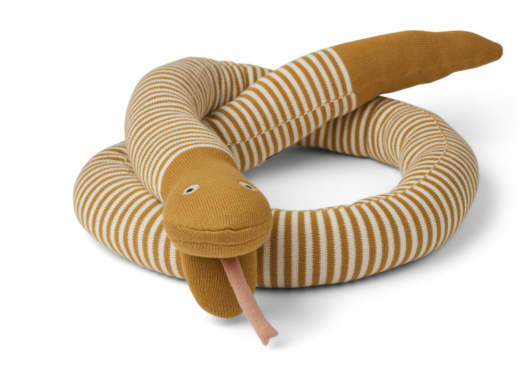 Fillippa knitted snake mustard-1