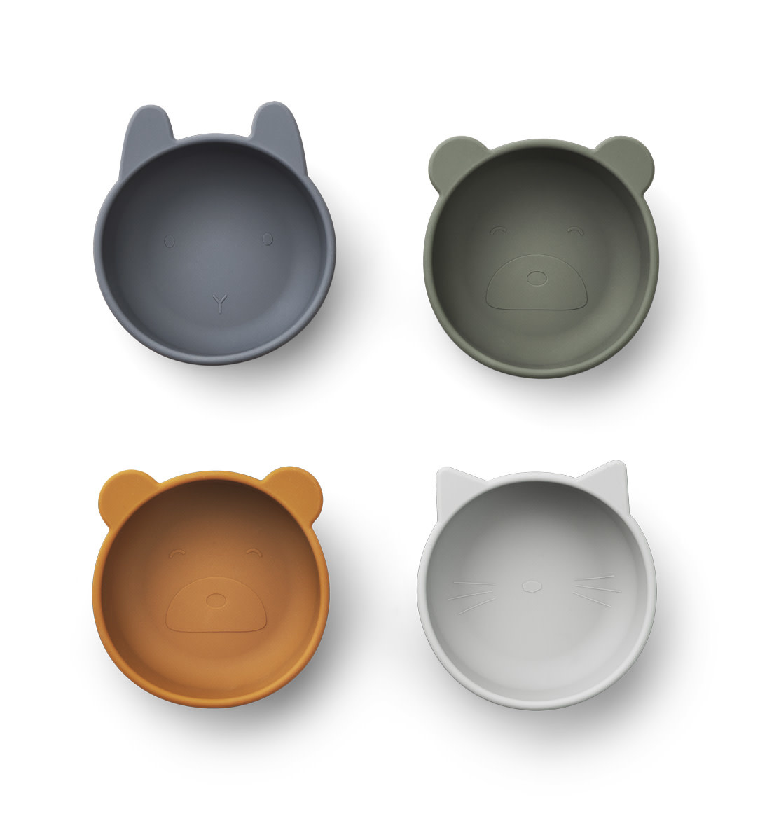 Iggy silicone bowls blue mix - 4 pack-1