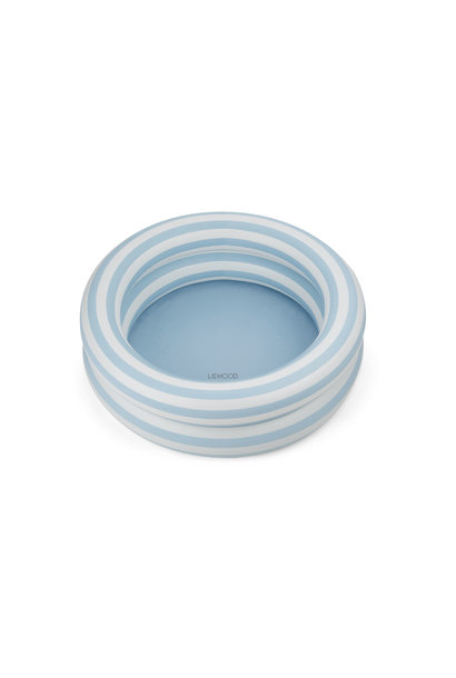 Leonore pool stripe sea blue