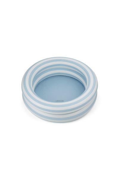 Leonore small pool stripe sea blue