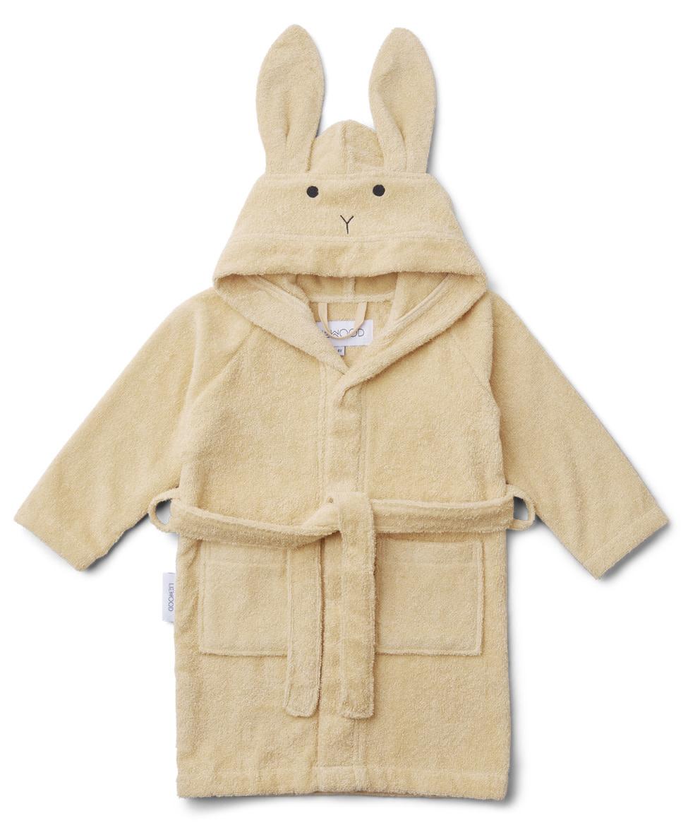 Lily bathrobe rabbit smoothie yellow 1-2Y-1