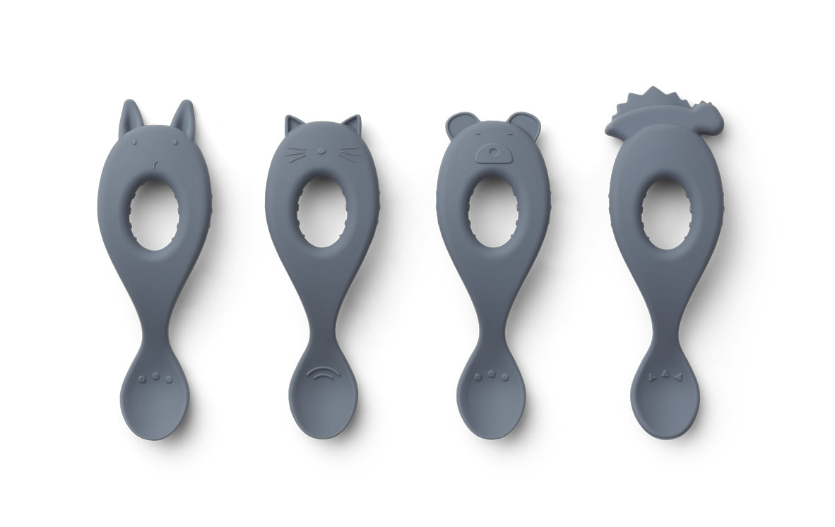 Liva silicone spoon blue wave - 4 pack-1