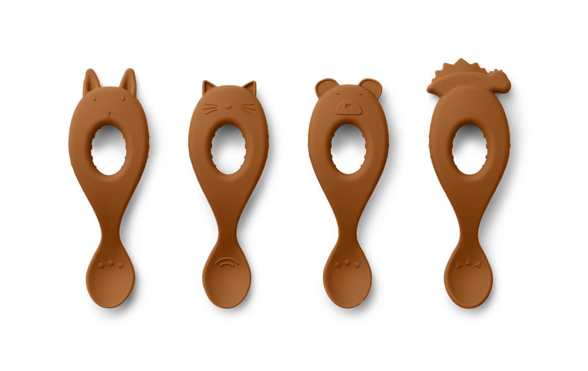 Liva silicone spoon mustard - 4 pack-1