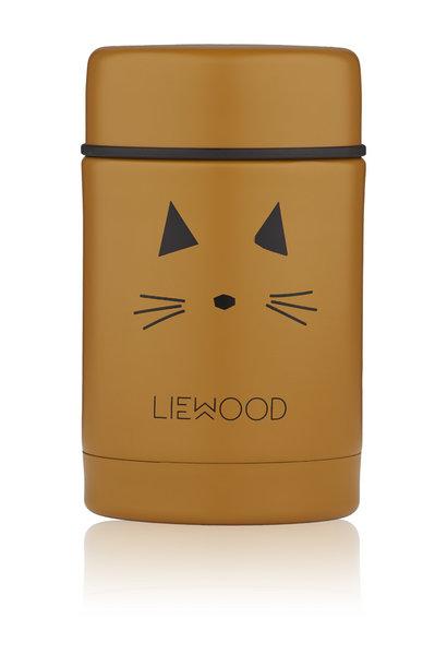 Nadja food jar cat mustard