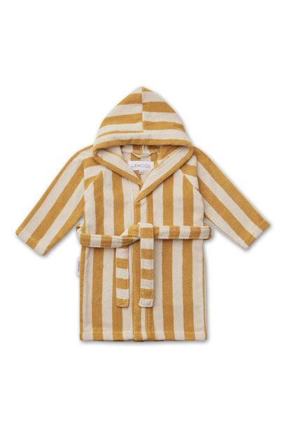 Reggie bathrobe stripe yellow mellow 3-4Y