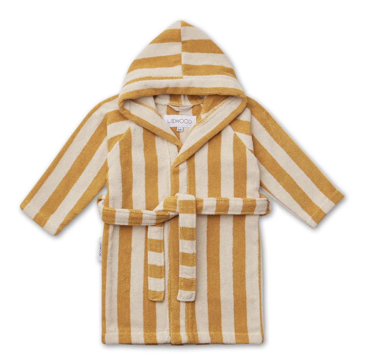 Reggie bathrobe stripe yellow mellow 3-4Y-1