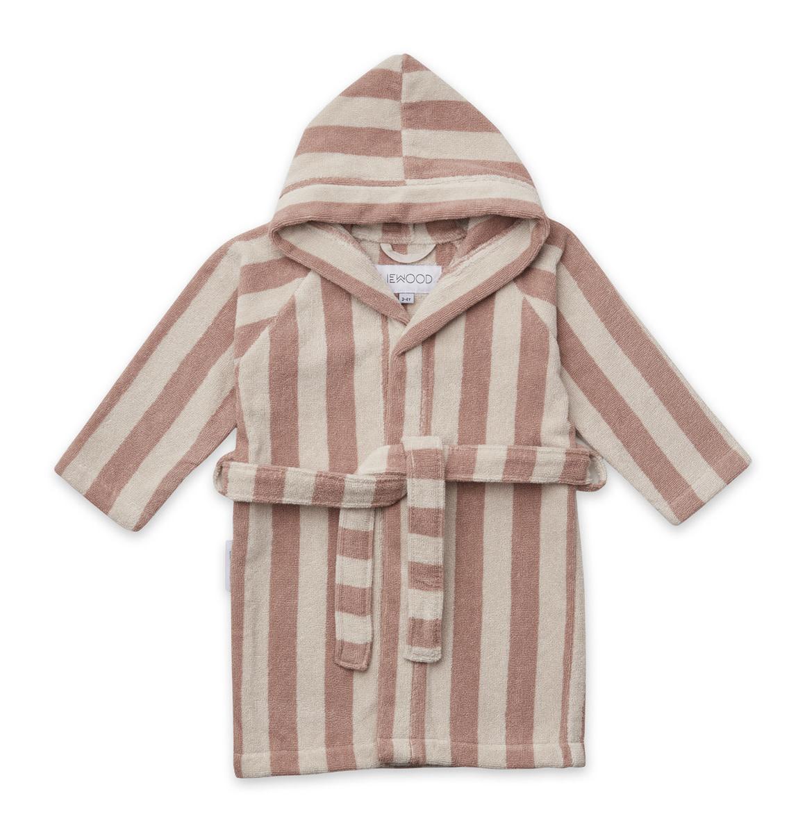 Reggie bathrobe stripe rose 5-6Y-1
