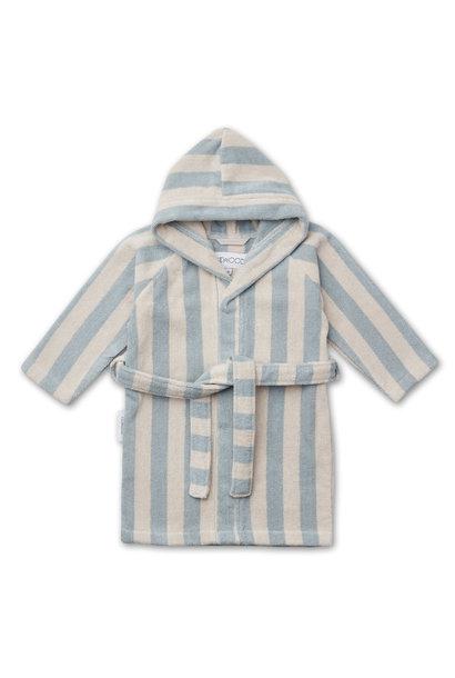 Reggie bathrobe stripe sea blue 3-4Y