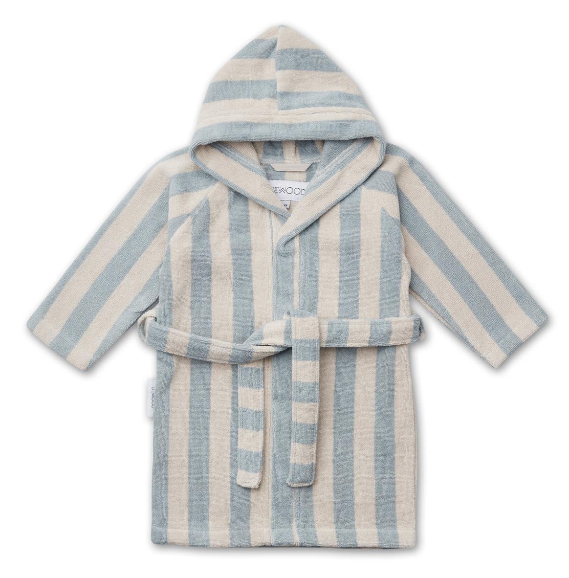 Reggie bathrobe stripe sea blue 5-6Y-1