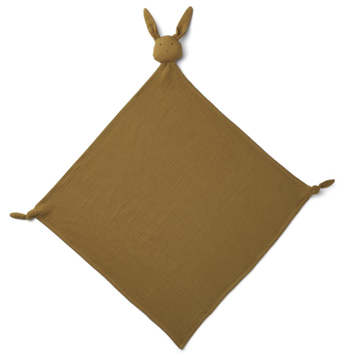 Robbie muslin cloth rabbit olive green-1