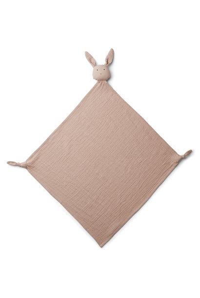 Robbie muslin cloth rabbit rose