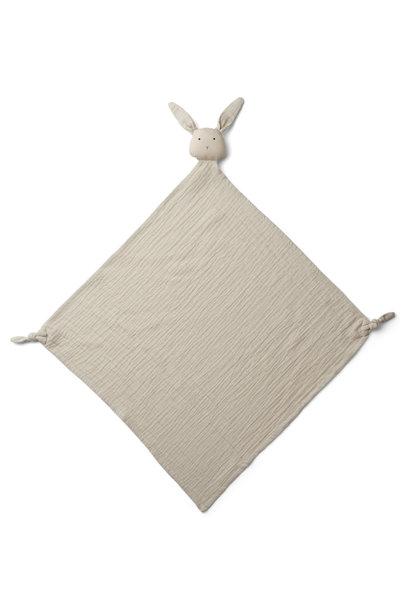 Robbie muslin cloth rabbit sandy