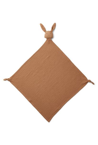 Robbie muslin cloth rabbit terracotta