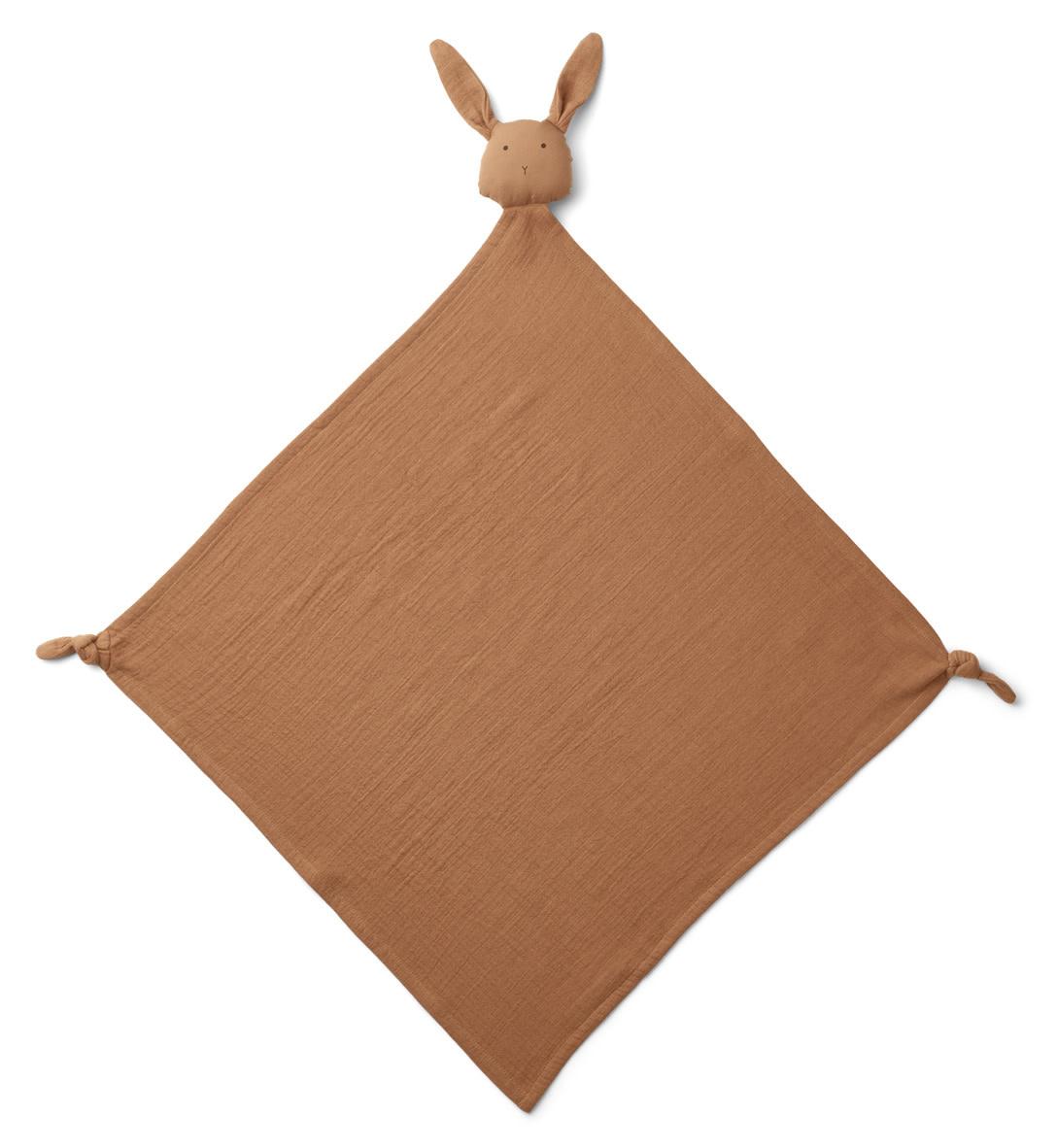 Robbie muslin cloth rabbit terracotta-1